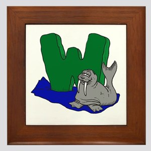 W Is For Walrus Framed Tile