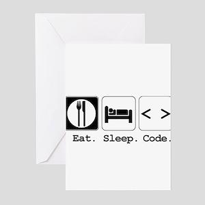 Eat. Sleep. Code. Greeting Cards (Pk of 20)