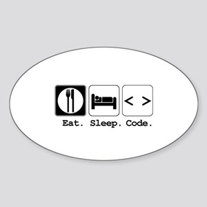 Eat. Sleep. Code. Oval Sticker