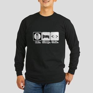 Eat. Sleep. Code. Long Sleeve Dark T-Shirt