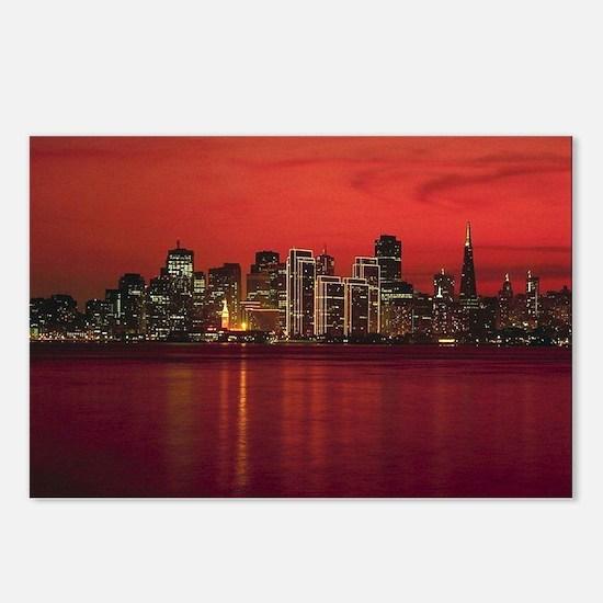 San Francisco Nighttime Skyli Postcards (Package o