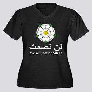 """""""We will not be silent"""" Women's Plus Size V-Neck D"""