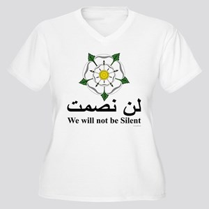 """""""We will not be silent"""" Women's Plus Size V-Neck T"""