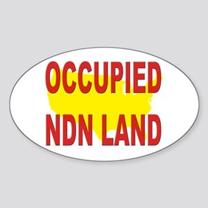 Occupied NDN Land Sticker (Oval 10 pk)