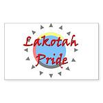 Lakotah Pride Sunburst Sticker (Rectangle 10 pk)