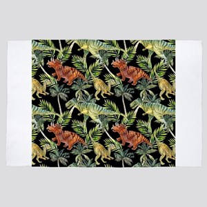 Gang of Dinosaurs on the Run in the Ju 4' x 6' Rug