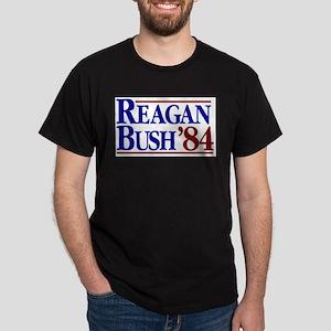 REAGAN BUSH 84 Political Election Retro Re T-Shirt