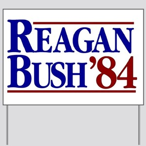 REAGAN BUSH 84 Political Election Retro Yard Sign