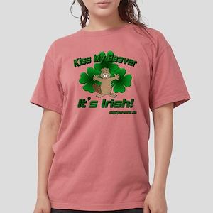 Kiss My Beaver It's Irish! Women's Dark T-Shirt