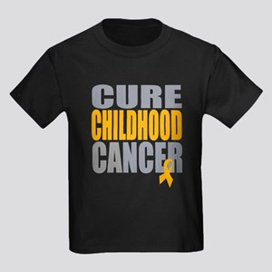 Cure Childhood Cancer Kids Dark T-Shirt