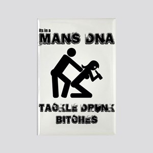 it's in a mans DNA, you must Rectangle Magnet (10