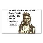 Brotherhood Quote Rectangle Sticker 10 pk)