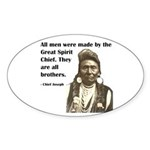 Brotherhood Quote Oval Sticker (50 pk)