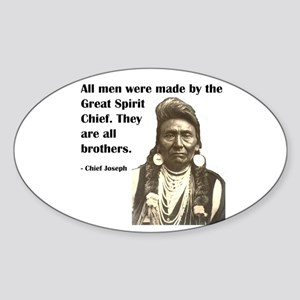 Brotherhood Quote Oval Sticker