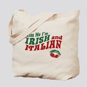 Kiss Me I'm Irish and Italian Tote Bag