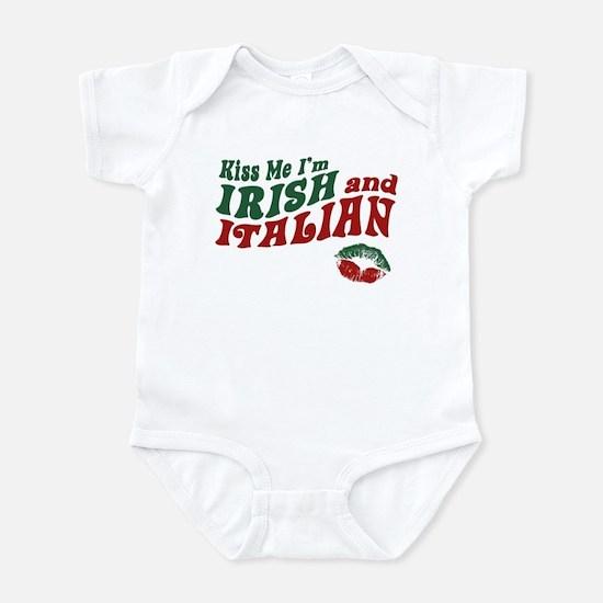 Kiss Me I'm Irish and Italian Infant Bodysuit