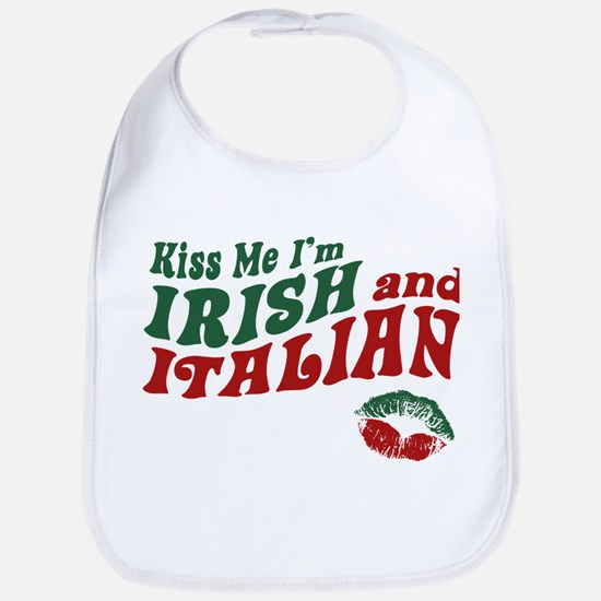 Kiss Me I'm Irish and Italian Bib