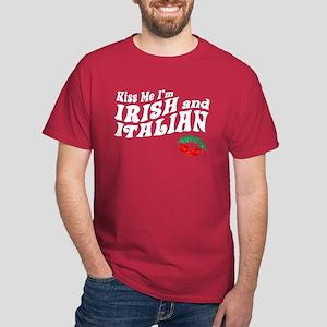 Kiss Me I'm Irish and Italian Dark T-Shirt