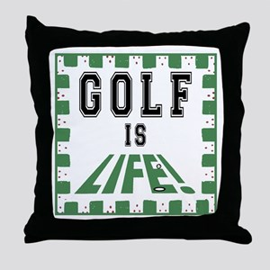 Golf Is Life Throw Pillow