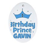 Gavin - 1st Birthday Prince Oval Ornament