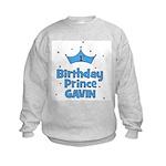 Gavin - 1st Birthday Prince Kids Sweatshirt