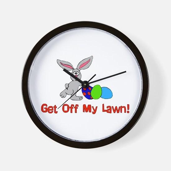 Get Off My Lawn Wall Clock
