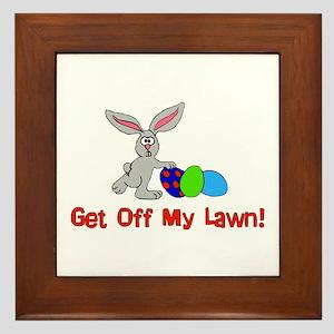Get Off My Lawn Framed Tile