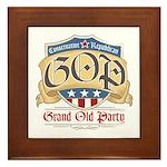 GOP Grand Old Party Framed Tile
