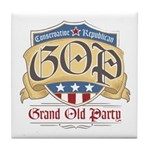 GOP Grand Old Party Tile Coaster