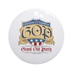 GOP Grand Old Party Ornament (Round)