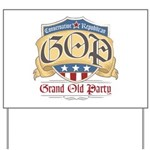 GOP Grand Old Party Yard Sign