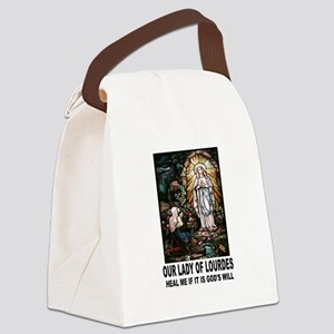 LADY OF LOURDES Canvas Lunch Bag