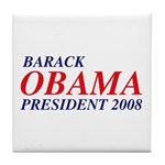 Barack Obama President 2008 Tile Coaster