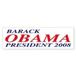 Barack Obama President 2008 Bumper Sticker