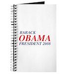 Barack Obama President 2008 Journal