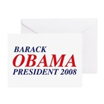 Barack Obama President 2008 Greeting Cards (10)