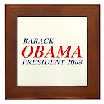 Barack Obama President 2008 Framed Tile
