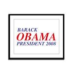 Barack Obama President 2008 Framed Panel Print
