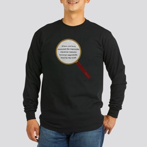 Holmes Quote Long Sleeve Dark T-Shirt