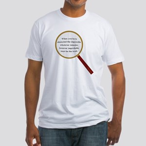 Holmes Quote Fitted T-Shirt