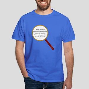 Holmes Quote Dark T-Shirt