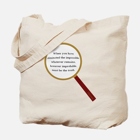 Holmes Quote Tote Bag