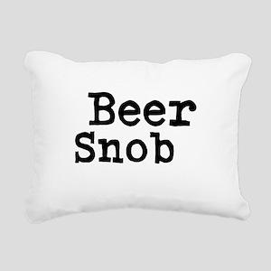 Beer Snob Rectangular Canvas Pillow