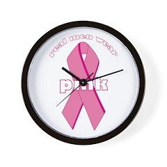 Real Men Wear Pink - Wall Clock