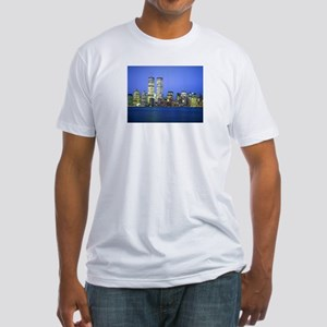 New York City at Night Fitted T-Shirt