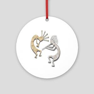 Two Kokopelli #115 Ornament (Round)