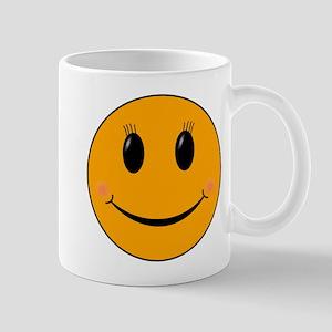 Cute Orange Smiley Gal 11 oz Ceramic Mug