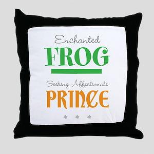 Enchanted Frog Throw Pillow