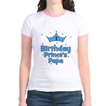 1st Birthday Prince's Papa! Jr. Ringer T-Shirt