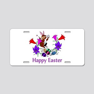 Painted Bunny Eggs Aluminum License Plate